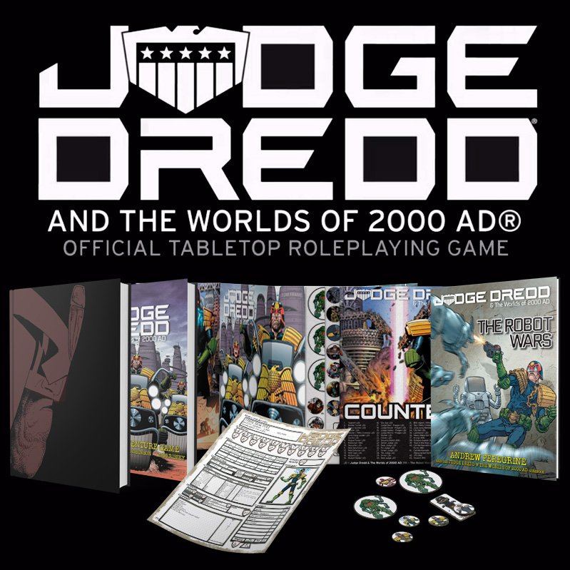 Back the Judge Dredd roleplaying game on Kickstarter now!