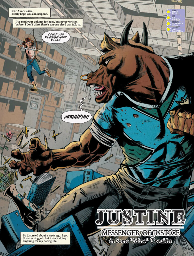 INTERVIEW: Emma Beeby & PJ Holden on Justine, The Wing'd Messenger of Justice