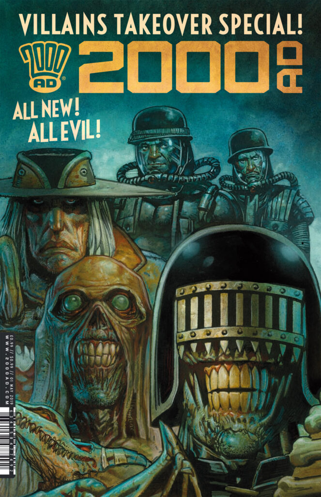 INTERVIEW: bring on the baddies with the 2000 AD Villains Takeover Special!