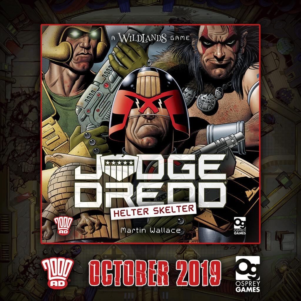 Osprey Games announce Judge Dredd: Helter Skelter tabletop miniatures game