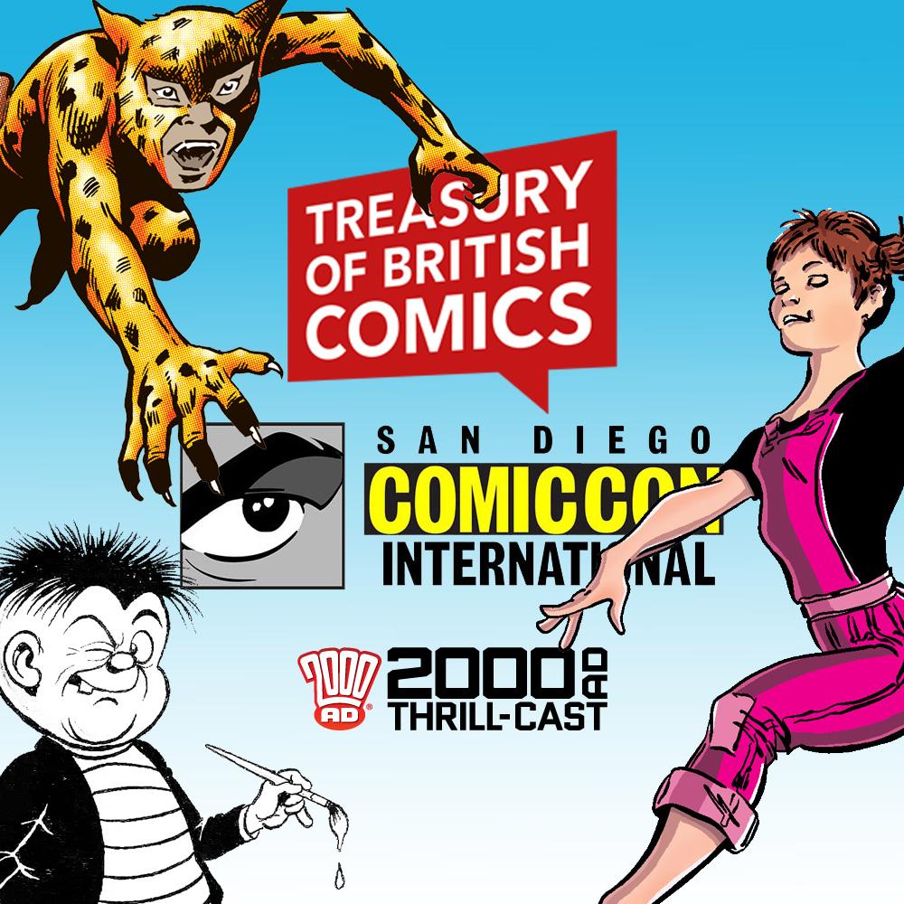 The 2000 AD Thrill-Cast: Classic British comics @ SDCC