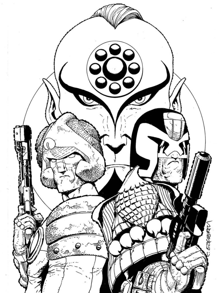 2000 AD Covers Uncovered: 40th Anniversary Special 1 – Carlos Ezquerra