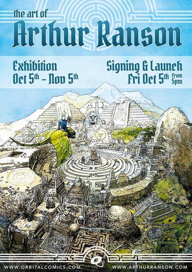 Arthur Ranson signing at Orbital Comics