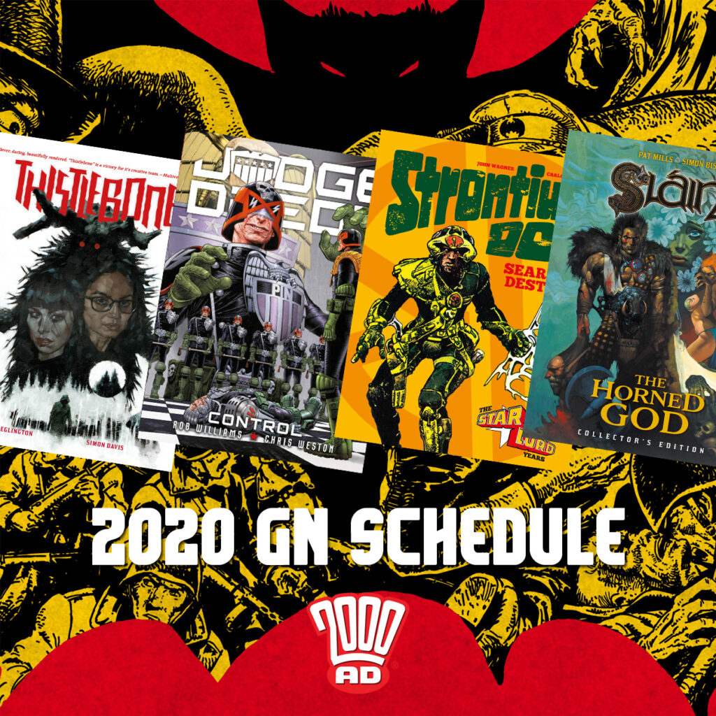 Welcome to the future – 2000 AD unveils its graphic novels for 2020!