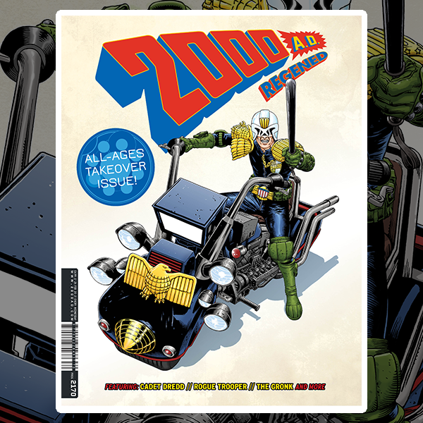 Regened All-Ages Special 2000 AD Prog 2170 is out now, Earthlets!