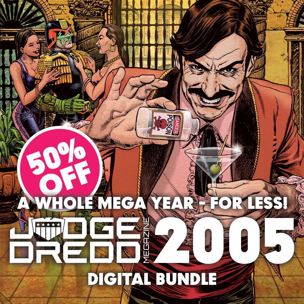 Half off a year's worth of the Judge Dredd Megazine!