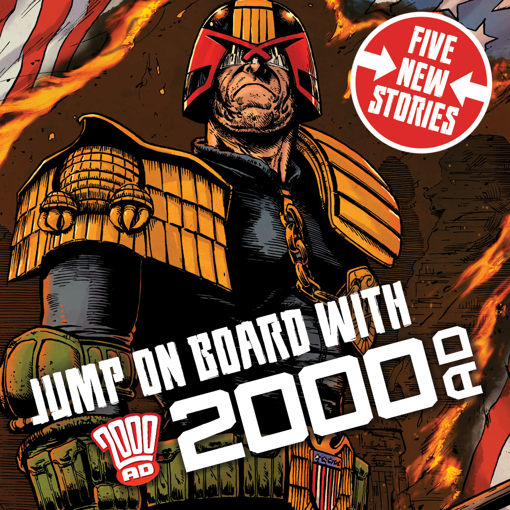Jump on board with 2000 AD – all new stories begin in Prog 2184!