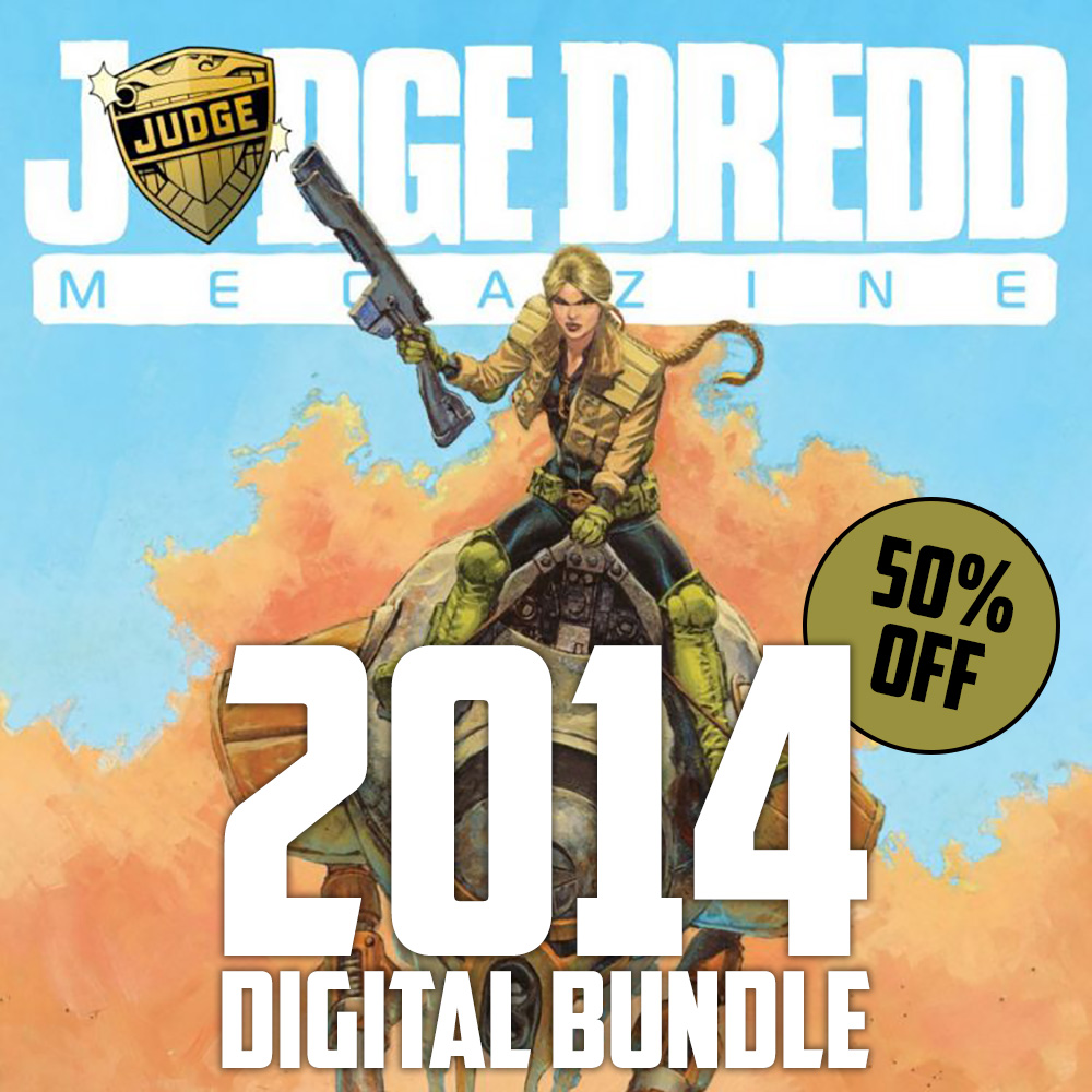 Half off a year of the Judge Dredd Megazine with the 2014 digital bundle!