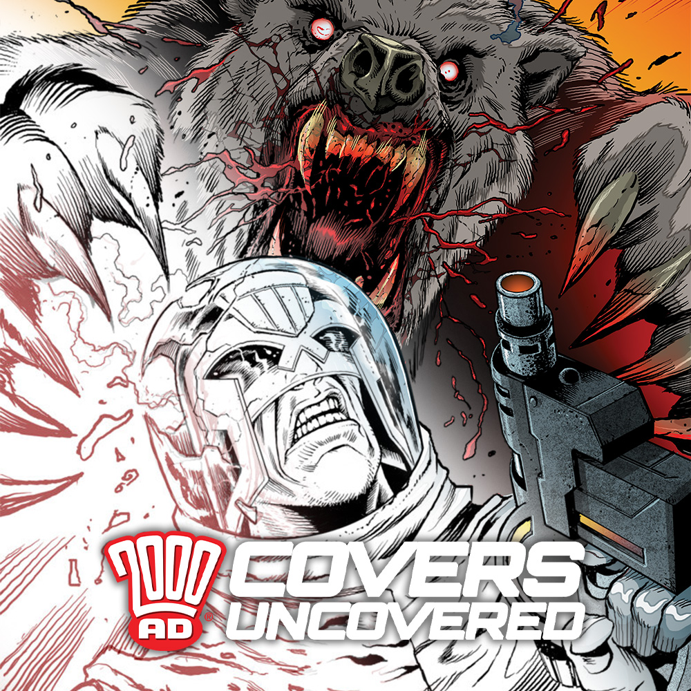 2000 AD Covers Uncovered – Richard Elson gets reacquainted with the Bear & the Judge…