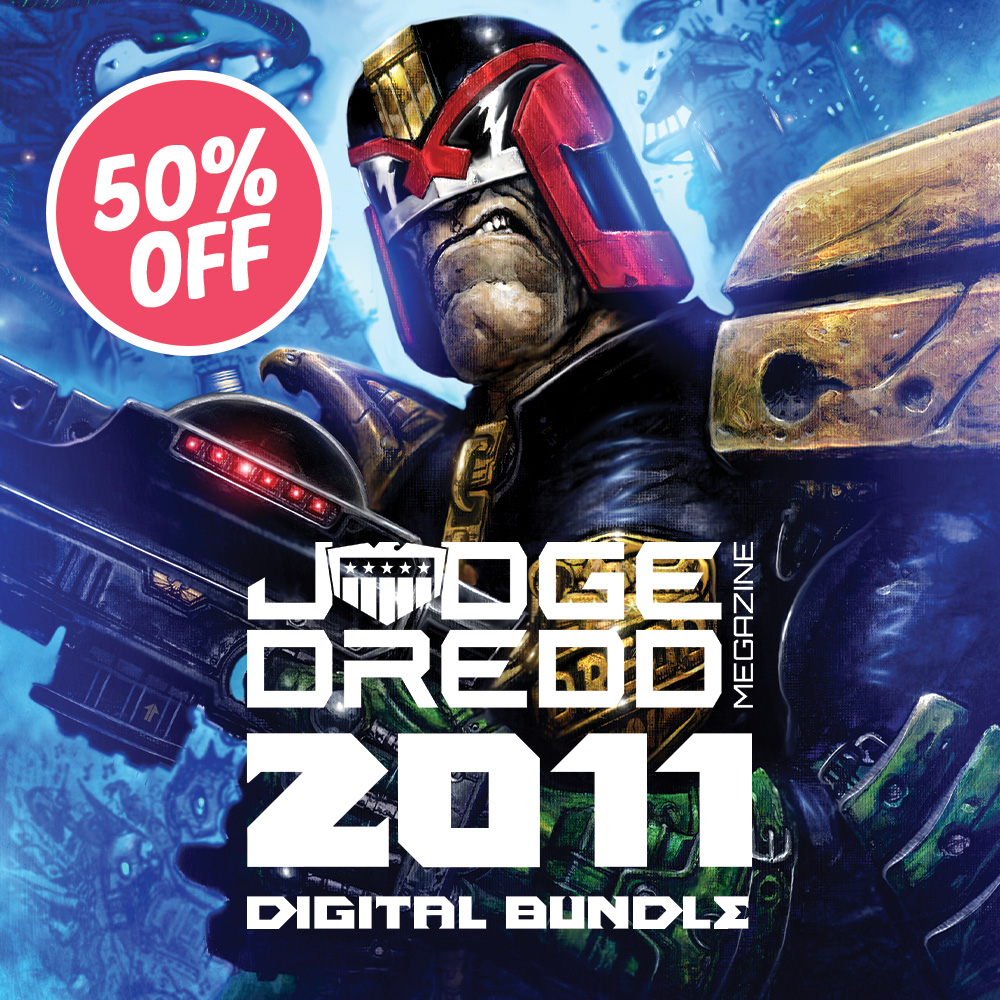 Half off a year of the Judge Dredd Megazine with the 2011 digital bundle!