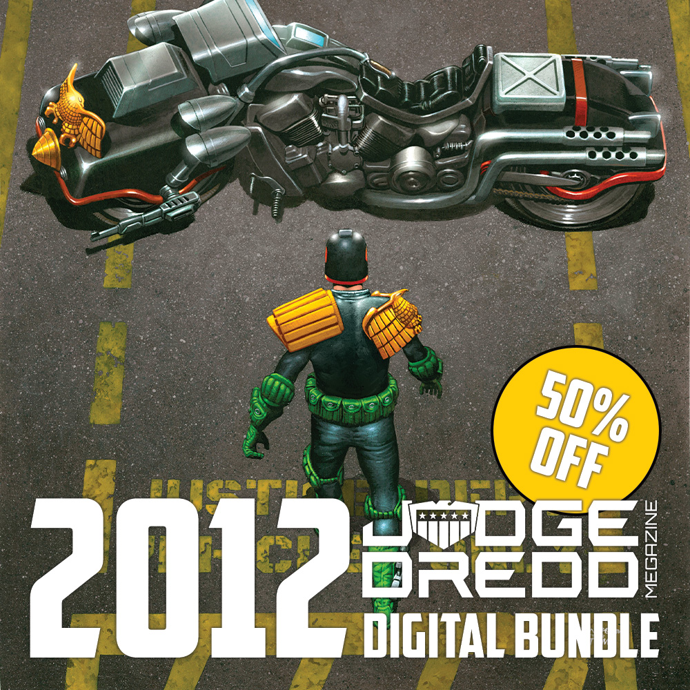 Half off a year of the Judge Dredd Megazine with the 2012 digital bundle!