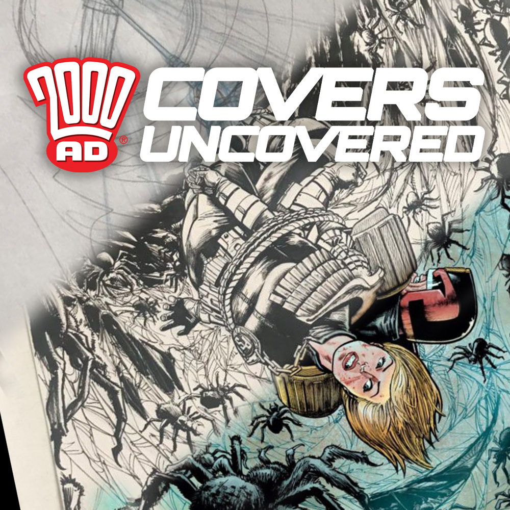 2000 AD Covers Uncovered – The spider-man is having Dredd & Anderson for dinner tonight