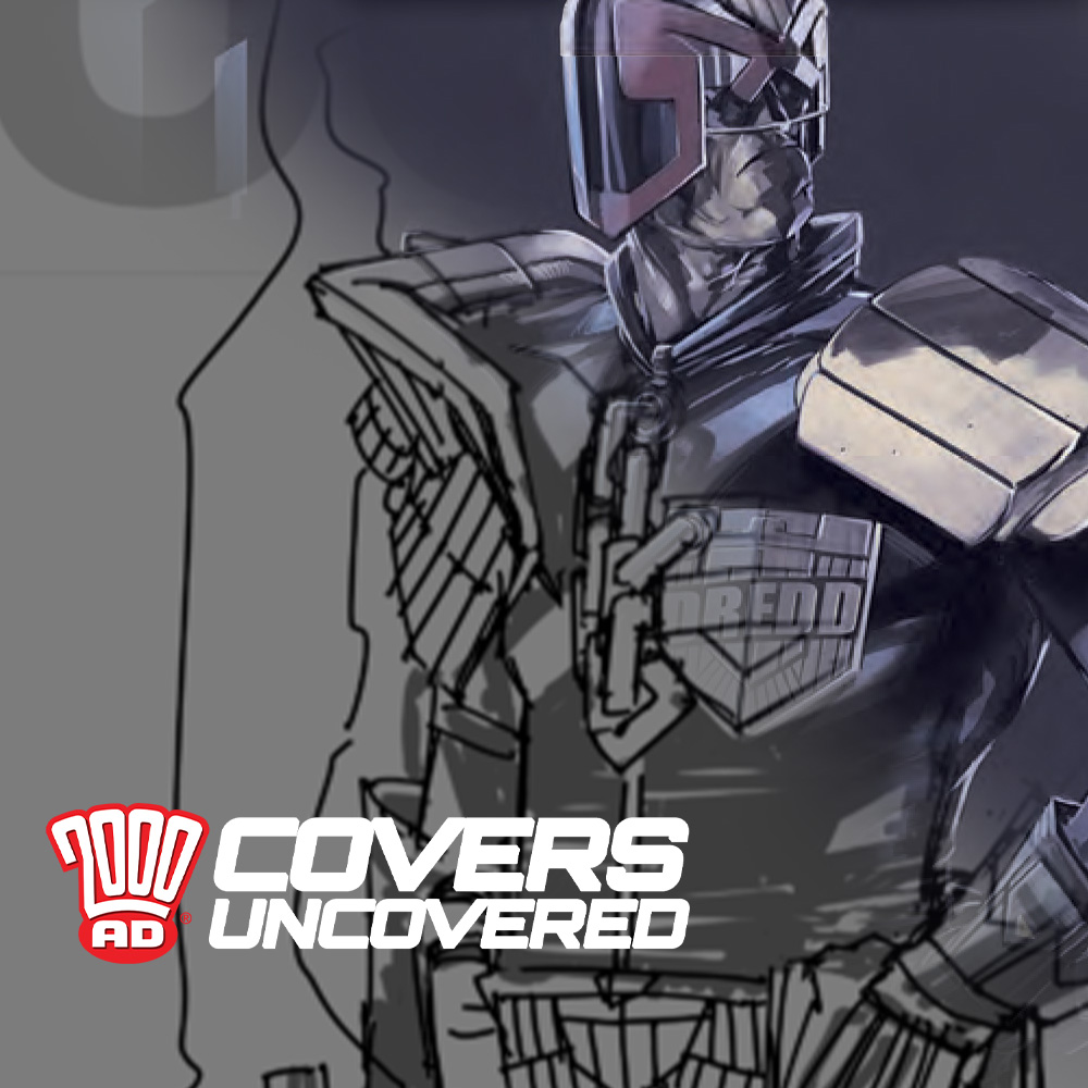 2000 AD Covers Uncovered – Jake Lynch gives Dredd nowhere to hide for Prog 2203!