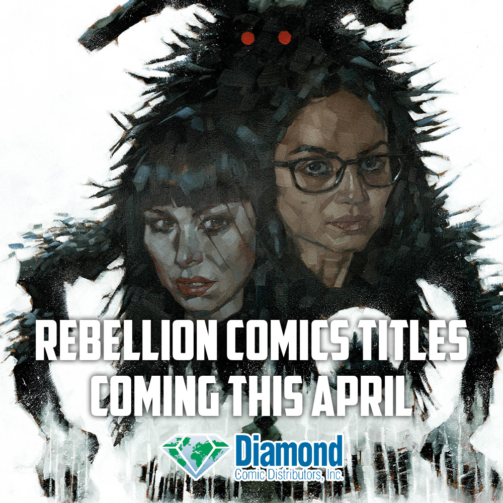 What's coming from Rebellion's comics imprints this April?
