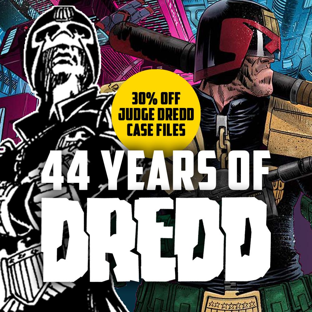 Happy birthday, Judge Dredd – get 30% off Case Files collections!