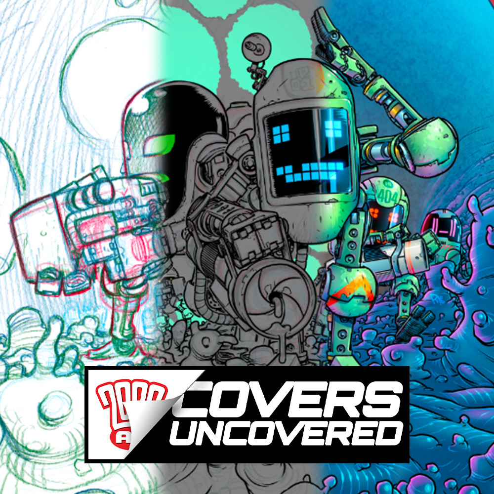 2000 AD Covers Uncovered: Pye Parr goes for the gut with his Intestinauts cover!