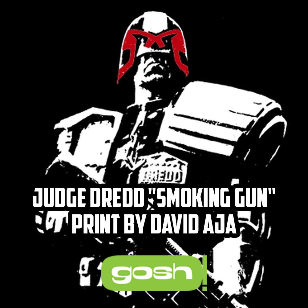 Order the David Aja Judge Dredd 'smoking gun' print