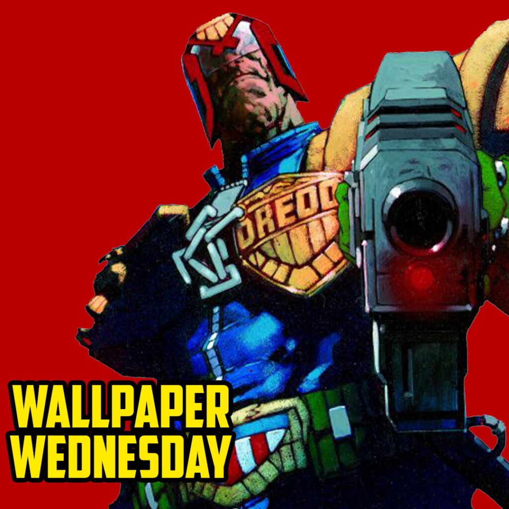 Download the latest 2000 AD Wednesday wallpaper – it's the law!
