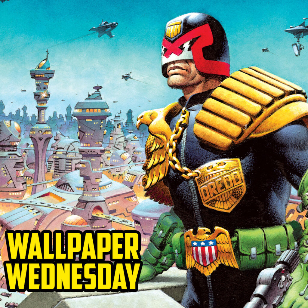 It's MEGA! Download the latest 2000 AD Wednesday wallpaper!