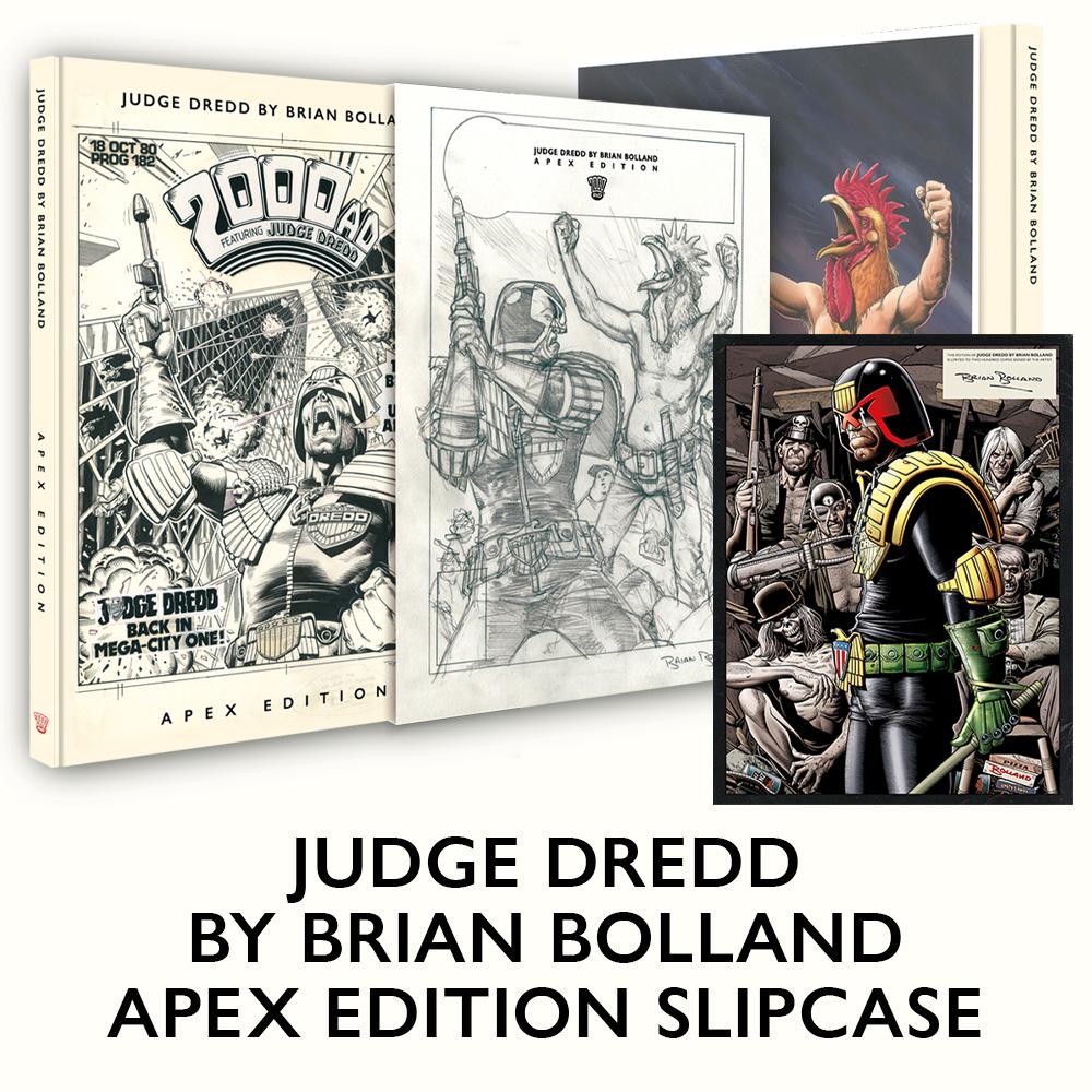 Pre-order the Judge Dredd by Brian Bolland Apex Edition slipcase!