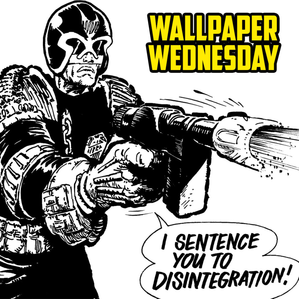 Don't disintegrate – download a free 2000 AD Wednesday wallpaper now!