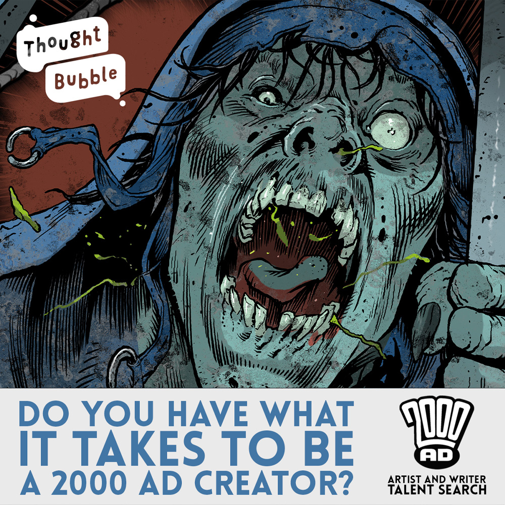 Win paid work with 2000 AD – the Thought Bubble talent searches are back and online!