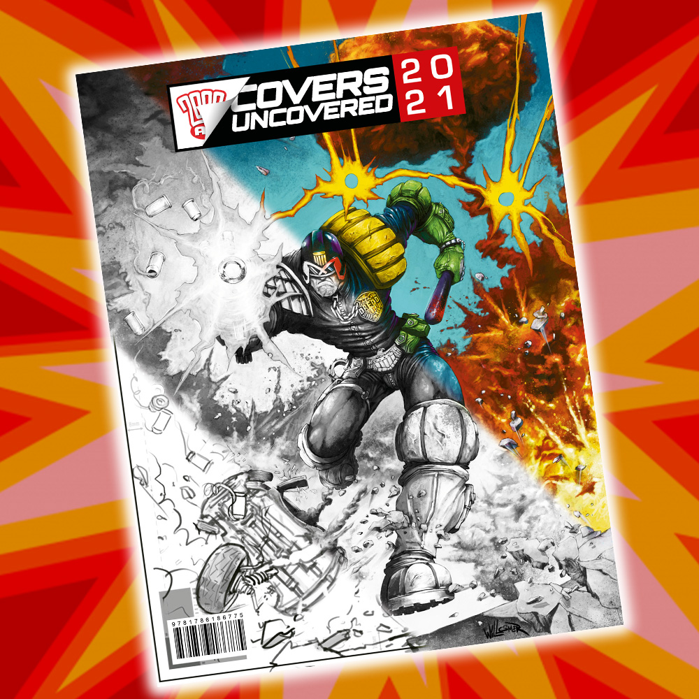 PRE-ORDER NOW: the first 2000 AD Covers Uncovered Annual!