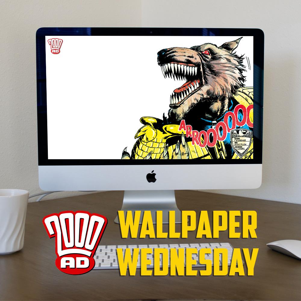 He is the laaaaawwwwww! Download a free werewolf Judge Dredd wallpaper!